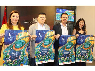La Diputación apoyará el proyecto de un Museo Nacional de Alfombras de Serrín en Elche de la Sierra