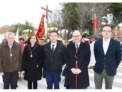 Cabañero respalda con su presencia el apoyo de la Diputación a la reciente declaración de Fiesta de Interés Turístico regional a la Semana Santa de Po