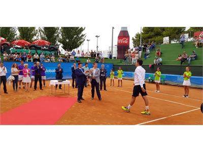 Santiago Cabañero y Mª Victoria Leal no faltan a 'La semana grande del tenis' y asisten a la entrega del XXXIV Trofeo Ciudad de Albacete