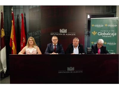 La sala de prensa de  Diputación, escenario de la presentación de la programación cultural de Fuenteabilla para este otoño