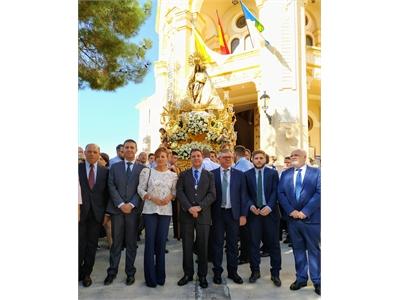 Santiago Cabañero participa junto a García-Page de las celebraciones en honor a la Virgen del Rosario, patrona de Hellín