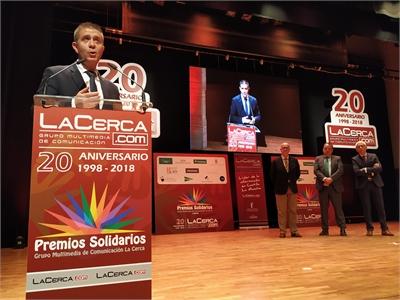 Cabañero subraya el carácter solidario de la sociedad albaceteña durante la gala de entrega de los X Premios Solidarios de La Cerca