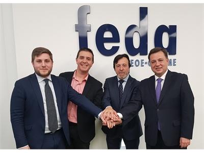 Cabañero felicita a Artemio Pérez por su reelección al frente de FEDA y tiende su mano para seguir trabajando juntos por el potencial de la provincia