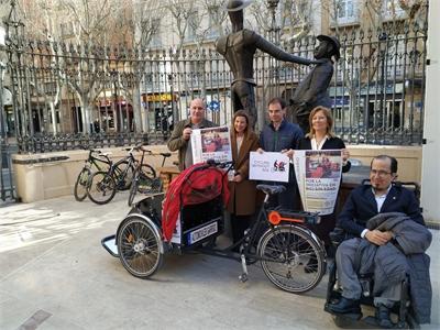 La ONG En bici sin edad encuentra el apoyo de la Diputación provincial para difundir su proyecto solidario