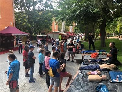 Más de 2000 personas participan en las Jornadas de Puertas Abiertas que el SEPEI ha celebrado hoy en su parque de Almansa