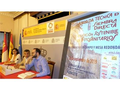 La Diputación y su ITAP, protagonistas en la presentación de la Jornada Técnica de siembra directa que el MAPA celebra el 26-S en Aguas Nuevas