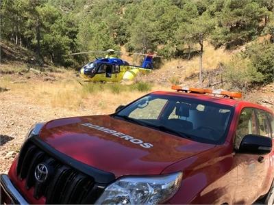 Efectivos del SEPEI participan en el rescate de tres personas atrapadas por la lluvia en Ossa de Montiel