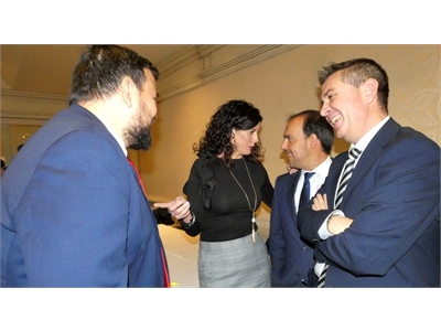 Santi Cabañero acompaña a Juanra Amores en un día muy especial para el vicepresidente de la Diputación