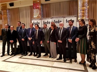 """Cabañero brinda con FEDA por """"un 2020 en el que mirar de frente los retos"""" y valora el """"gran clima social"""" forjado en Albacete para trabajar unidos"""