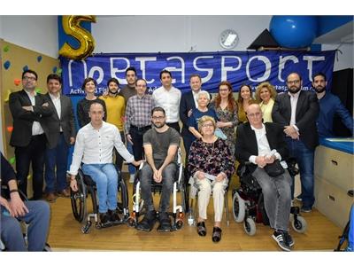 Sancha agradece a Metasport el trabajo que realizan para que el Circuito Provincial de Carreras Populares de la Diputación sea 100% inclusivo