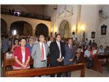 Paco Núñez, en la misa de Mahora, en honor a la Virgen de Gracia