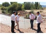 Núñez visita las obras que con cargo al programa extraordinario 'Dipualba Invierte' se realizan en el municipio serrano de Villapalacios