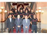 El presidente de la Diputación dio la bienvenida a los nuevos catorce bomberos de la plantilla del Sepei