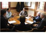 El presidente de la Diputación mantiene una reunión con el Colegio de Ingenieros de Caminos de Castilla-La Mancha