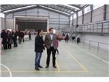 El presidente de la Diputación, Francisco Núñez, inaugura el flamante pabellón polideportivo cubierto de Bonete