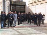 La Diputación guarda un minuto de silencio en memoria de las víctimas del avión siniestrado en Los Alpes franceses