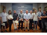 El vicepresidente Constantino Berruga, firma los contratos de patrocinio de las Carreras Populares y la BTT con los sponsors