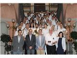 El presidente de la Diputación recibe a la Banda de Música de Villarrobledo en su 150 aniversario