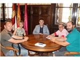 El presidente se reúne con la directiva del Albacete Basket, recientemente ascendido a LEB Plata