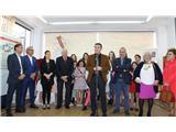 El presidente de la Diputación asiste en Ontur a la inauguración de una exposición  fotográfica histórica sobre las Fiestas de Sán José