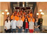 Cabañero recibe a las deportistas que van a representar a España en el mundial de gimnasia estética