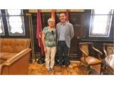 Santiago Cabañero mantiene su primera reunión de trabajo con la nueva alcaldesa de Tobarra, Amparo Ballesteros