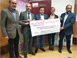 El vicepresidente III de Diputación acompaña a ACEPAIN en la nueva entrega de 70.000 euros al doctor Ocaña para investigaciones sobre cáncer