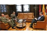 El presidente de la Diputación de Albacete se reúne con el que, desde este jueves, será nuevo Mando del CENAD de Chinchilla
