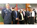Amparo Torres y Pilar Sierra reiteran el apoyo de la Diputación a la Base Aérea en el Relevo de Mando que ésta ha vivido este viernes