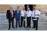 Santiago Cabañero visita Alatoz con motivo de las Fiestas en honor a la Virgen del Rosario