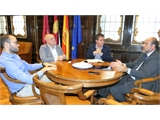 Cabañero y Martínez Guijarro mantienen un encuentro de trabajo en la Diputación Provincial de Albacete