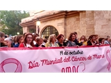 La Diputación forma parte de la 'marea rosa', capitaneada por AMAC, que inunda Albacete para visibilizar a las mujeres afectadas por cáncer de mama