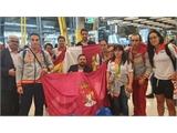 Los héroes del Mundial de Australia, recibidos por Juan Ramón Amores en Madrid