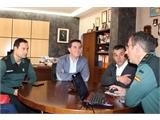 El presidente de la Diputación Provincial visita las instalaciones de la Comandancia de la Guardia Civil en Albacete