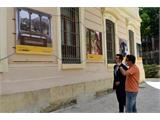 La fachada del Palacio de la Diputación, primera sede en la provincia de la exposición fotográfica de gran tamaño #PHEdesdemibalcón